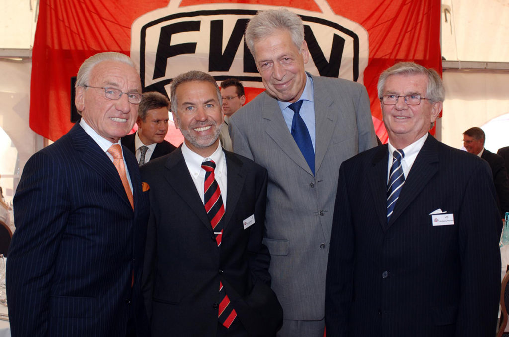 Josef Hattig, Bruno Kruth, Henning Scherf, Wolfgang Warnken (from left to right) at the bi-centenary celebration in 2005