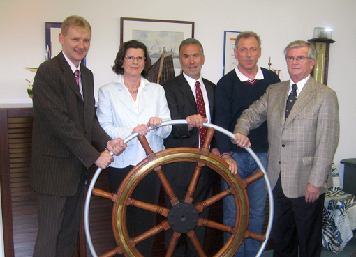 from left to right: Sven Bley, Erika Märker, Bruno Kruth, Paul Eiserbeck, Wolfgang Warnken