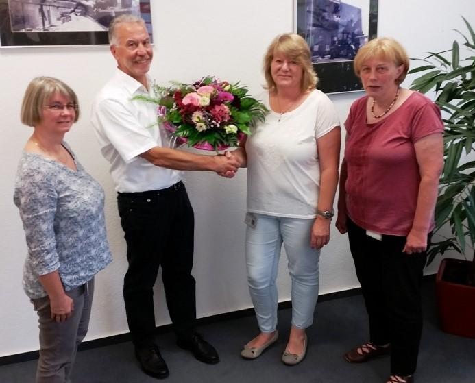 von links: Beate Kutter, Bruno Kruth, Dorit Ahrens, Annegret Rugen